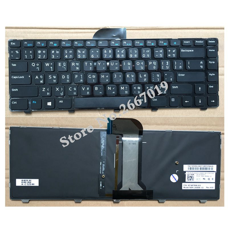 AR New Replace laptop keyboard For Dell Inspiron 14 3421 3437 14R 5421 5437 M431R Latitude 3440 Vostro 2421 Backlit