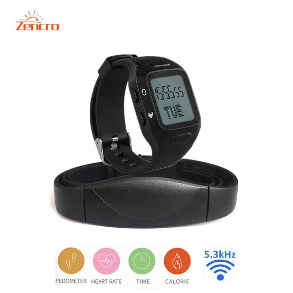 Sport training watch Tracking Calories Counter work with 5 3kHz transmitter Pulse Heart Rate Monitor plus