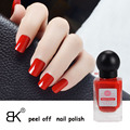 High Quality 18ml BK Brand Water Base Peel Off Nail Polish Faint Fragrance Paint Lacquer Professional Nail Art Enamel Cosmetics