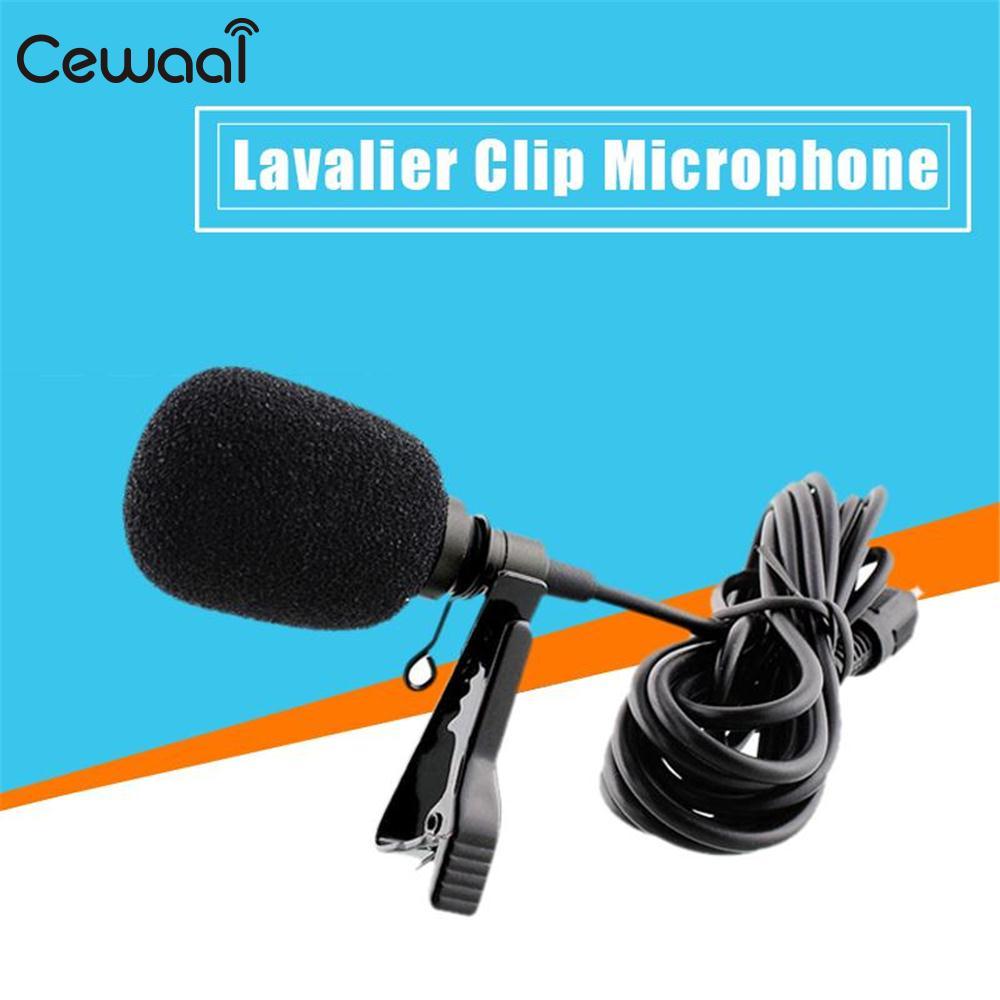 Mic Mik Microphone Microfone Mikrophone Mikrofone Jepit Clip On Drat Mini Cewaal Lapel Tie Lavalier 35mm Jack Smartphone Speaker Microfono