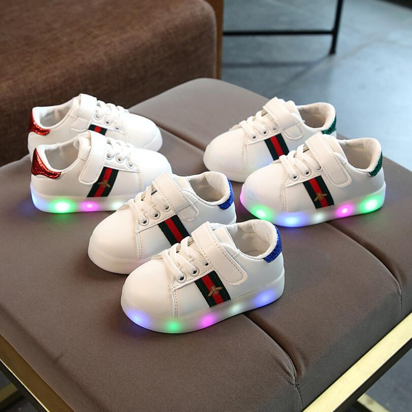 LED Breathable lace up kids sneakers breathable high quality cool baby boys girls shoes Lovely fashion children casual shoesLED Breathable lace up kids sneakers breathable high quality cool baby boys girls shoes Lovely fashion children casual shoes
