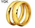 YGK Brand 4MM and 6MM Width Golden Faced Tungsten Carbide Wedding Ring(The Price for 2