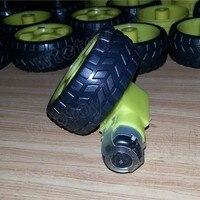 65 мм ЛР колесо автомобиля Robot ТТ мотор-редуктор колеса шасси колеса призыва предпочел желтый