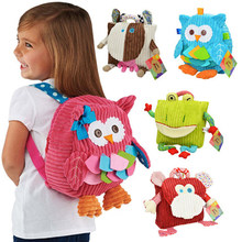 5 Styles Sozzy Original Dimensional Cute Animal Plush Backpack Children Shoulder Cartoon School Bags Snack Bag(China)