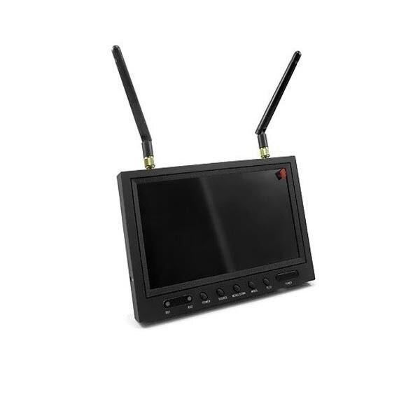 RC701 moniteur récepteur de diversité AIO 5.8 GHz FPV avec bouclier lumineux
