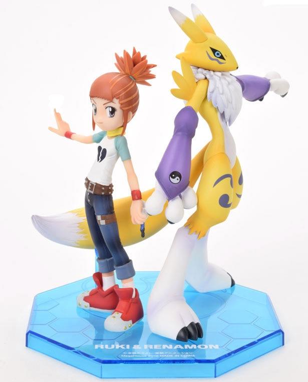Digimon Tamers Renamon/&Ruki Makino PVC Figure Renamon Model Decoration Gift 6/'
