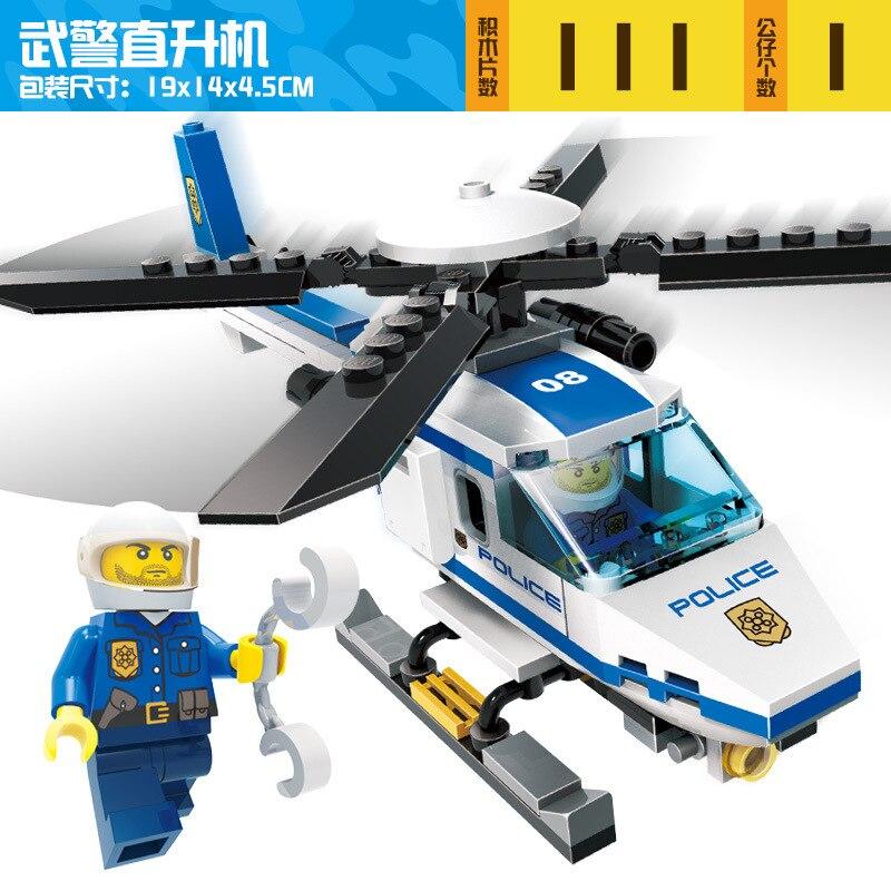hot Police Station Prison Figures Model Building Blocks Playmobil Blocks Bricks Educational Toys Compatible Legoingly