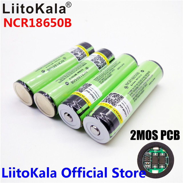 2018 Original LiitoKala 18650 3400mAh battery 3.7V Li-ion Rechargebale battery PCB Protected For  NCR18650B 18650 3400 - aliexpress