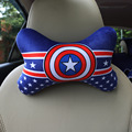 1 pcs new car blue variety bear head neck pillow cool pull car super soft fabric neck pillow