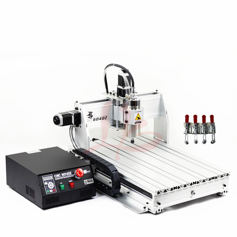 Interruptor de limite mini router cnc máquina de gravura em metal de corte 6040Z 1500 W porta USB DiY PCB fresagem com cortador livre vise pinça