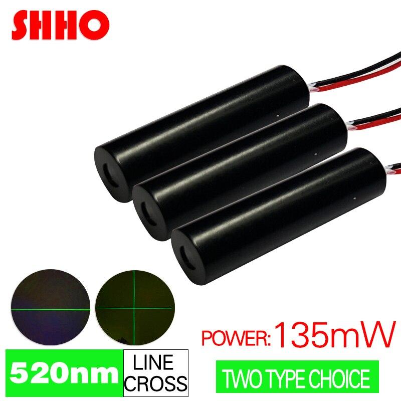 Новый продукт 520nm 135mw зеленый светильник линия/Крест лазерный модуль производственная позиция съемка цель измерение положения здания