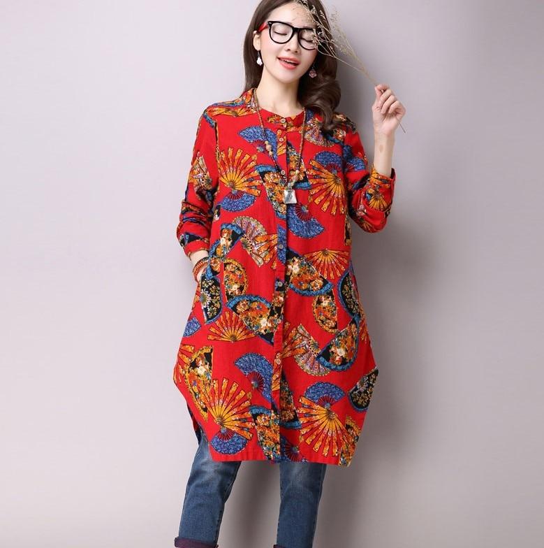 Pluz Size Big Women Chiffon Blouse Shirt National style Out Maternity Shirt womens maternity sleepwear postpartum clothes YL58