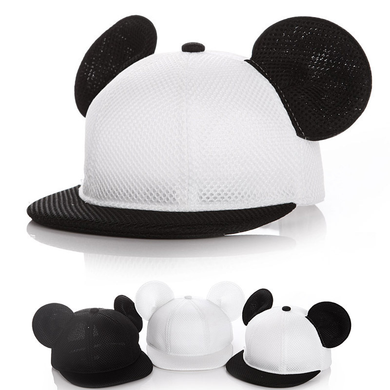2018 Children Lovely Mickey Big Ears Baseball Cap Girls Cute Mouse Hip Hop Caps Casual Summer Mesh Sun Hats Casquette Gift feitong summer baseball cap for men women embroidered mesh hats gorras hombre hats casual hip hop caps dad casquette trucker hat