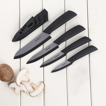 Kitchen Knives Ceramic Knives 3 4 5 6 inch Zirconia Black / White Blade Paring Fruit Vege Colorful Handle Ceramic knife Set
