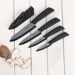 Noże kuchenne noże ceramiczne 3 4 5 6 cali Zirconia czarny/biały ostrze Paring Fruit Vege kolorowy uchwyt ceramiczny zestaw noży|Zestawy noży|Dom i ogród -