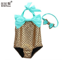 Newborn Baby Girl Clothes Baby Romper Bebe Girl Mermaid Swimsuit Summer Boy Clothing Set For Newborn