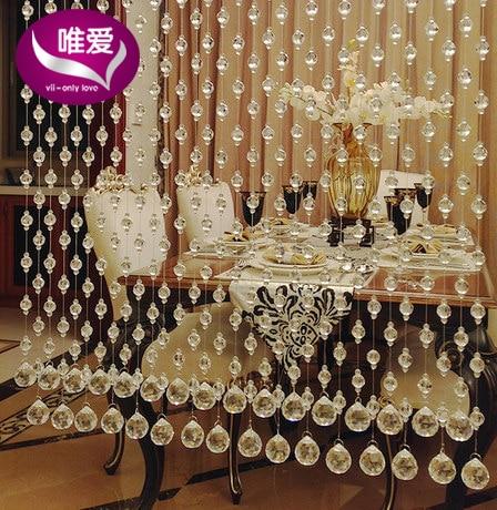 5 st PCS / lot Sitting room partition 100 cm höjd kristall pärlstav - Hemtextil