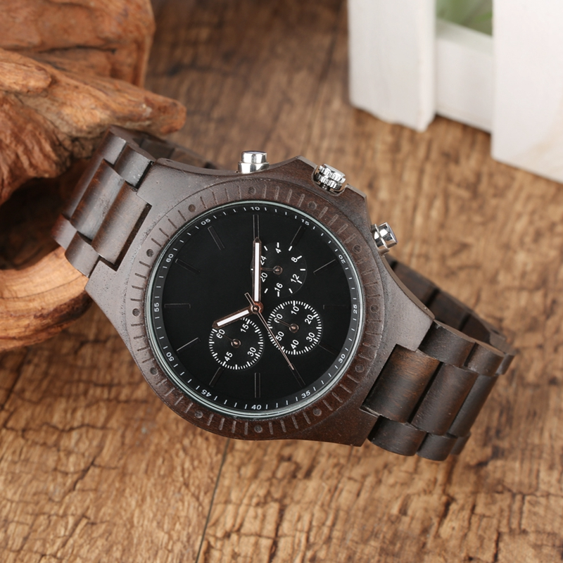 Retro Wood Men Watches Clock Man Gear Cover Top Brand Luxury Stylish Chronograph Watches Timepieces Relogio Masculino 2019 2020 2022 (4)