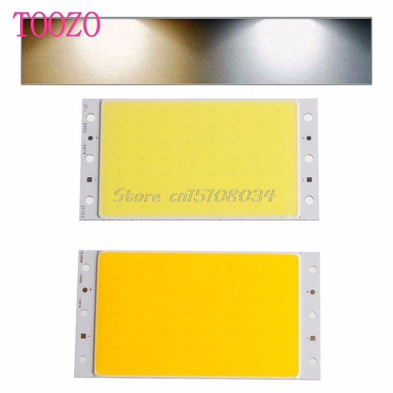 Durable 15W COB LED Ultra Bright Light Lamp Band Chip DIY 94*50mm 12V White S08 Drop ship
