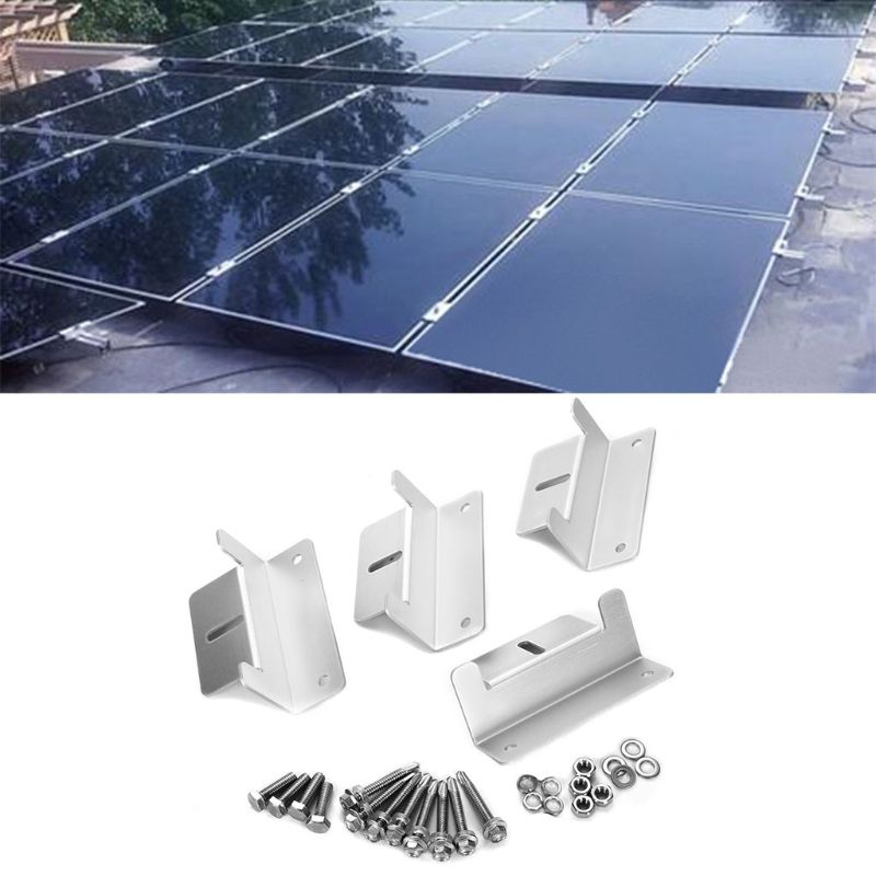 Image 5 - 1Set Solar Panel Z Style Aluminum Brackets Nuts Bolts And Washers For Mounting Solar Panels On Motorhomes Caravans Boats Roofs-in RV Parts & Accessories from Automobiles & Motorcycles