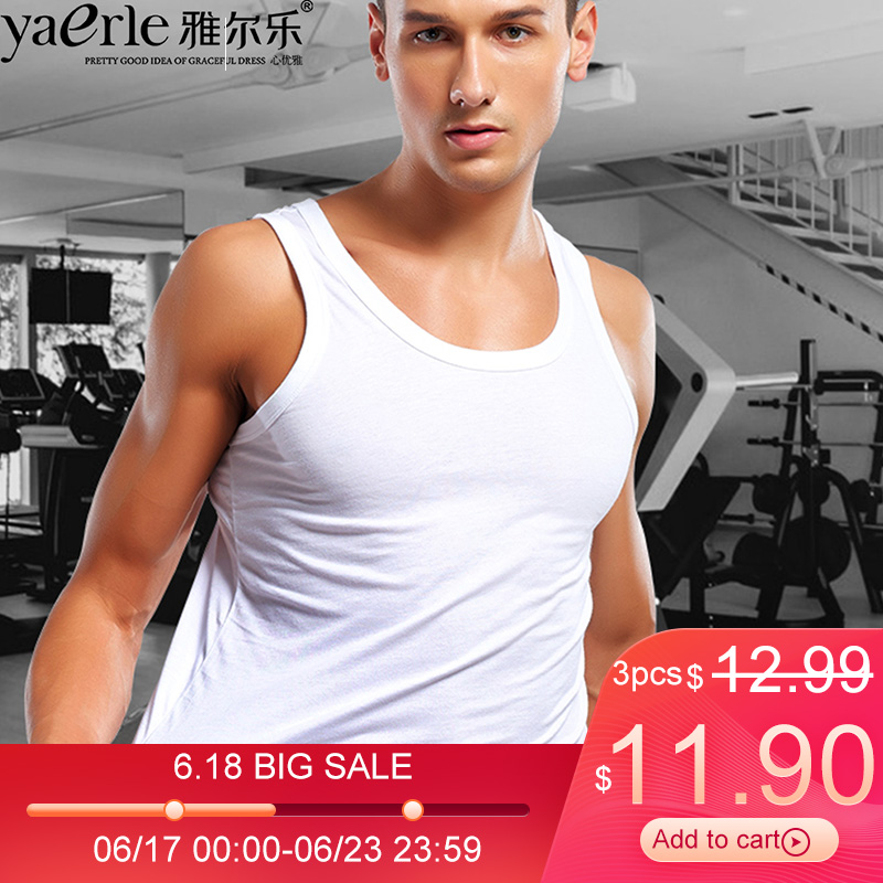 3 Pieces   Tank     Top   Mens Brand Cotton O-neck Slim Fit   Tank     Top   Male Bodybuilding Undershirts Summer   Tank     Tops