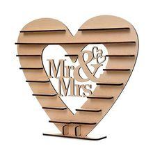 Свадебные деревянные украшения Mr& Mrs шоколадный стенд дисплей конфеты кекс подставка для десерта домашний Декор Свадебная вечеринка баров