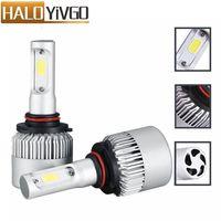 1Pair 9005 COB 6500K LED Headlight Bulb 12V 24V 72W 8000LM All In One Car LED