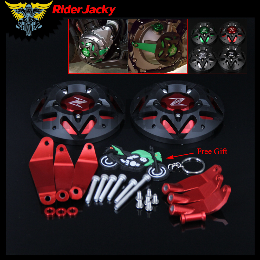 RiderJacky Motorcycle Accessories Z900 CNC Engine Guard Engine Protect Cover For Kawasaki Z900 Z900 2017 2018 платье zarina цвет зеленый 8224001501012 размер 44