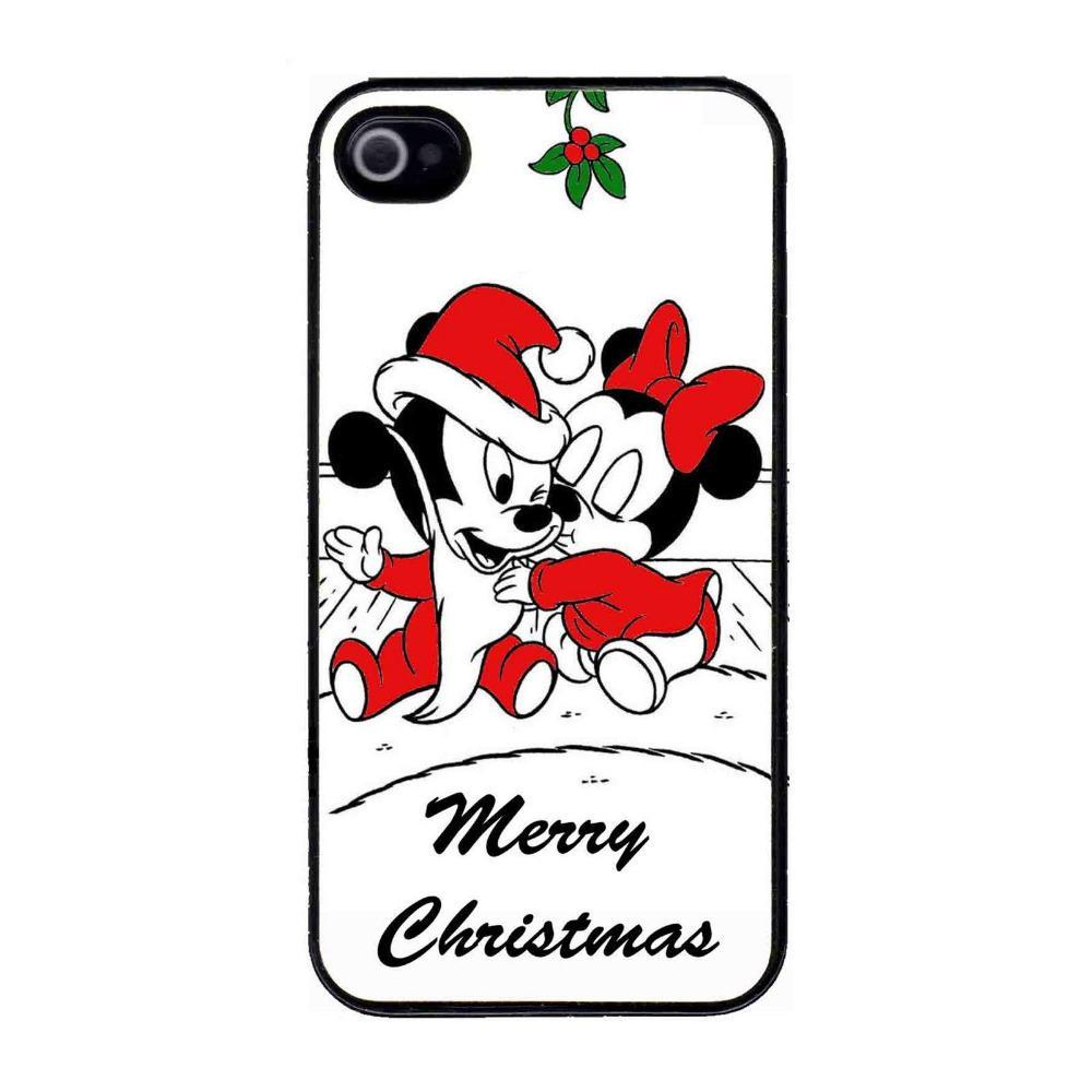 Baby Mickey Minnie Mouse Christmas Kiss Hard Plastic Cell Phone ...
