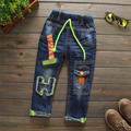 denim pants Children boys jeans H letter kids trousers spring autumn casual pants trousers BOY FASHION JEANS 2016 NEW
