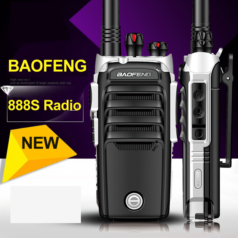 New Baofeng BF 888S Professional Walkie Talkie 4th BF 888S 5W Power UHF 400 480MHz Portable Two Way Radio PTT FM Transceiver