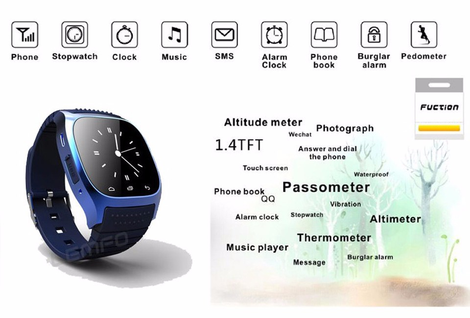 SHAOLIN Bluetooth Smart Watch Phone Wearable Devices SmartWatch For Apple Android IOS Mobile Phone PK GT08 DZ09 U8 A9 IWO -2