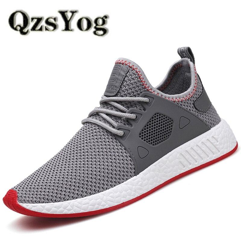 QzsYog Men Running Shoes Air Mesh Sport Jogging Sneakers Outdoor Athletic Superstar Trai ...