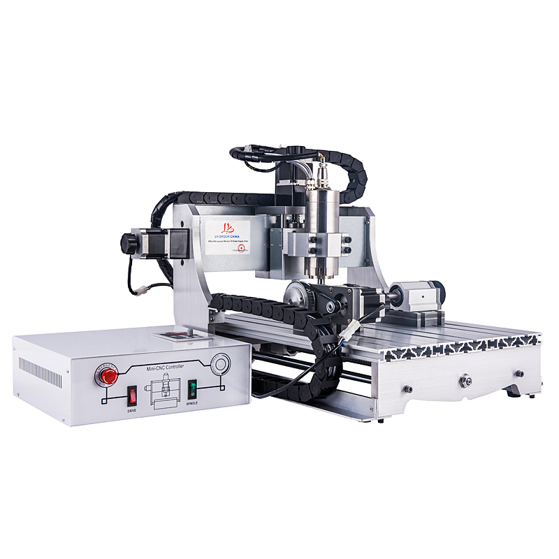 4 axis cnc router 3040 with 2200W water cooling spindle for metal wood glass 3 axis engraving machine