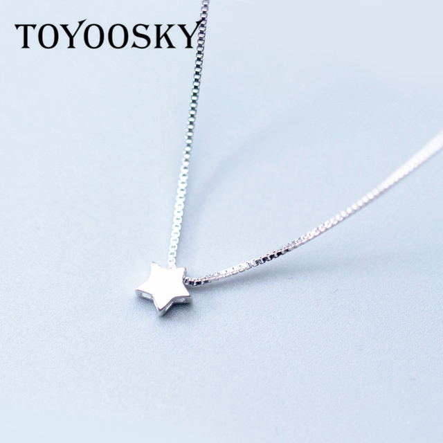 925 sterling silver star pendant necklace fashion jewely small 925 sterling silver star pendant necklace fashion jewely small choker necklaces aloadofball Image collections