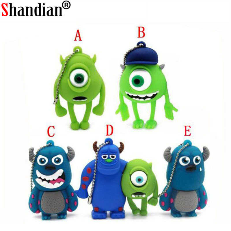 Usb Flash Drives Shandian Pen Drive One Eyed Blue Hat Monster University Pendrive 8gb/16gb/32gb Usb Flash Drive Flash Drive Memory Stick Gift Quality And Quantity Assured