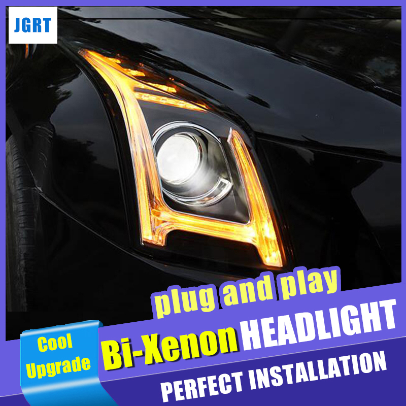 New car Styling for Cadillac ATS LED Headlight 2014 2018 For ATS LED DRL Bi Xenon