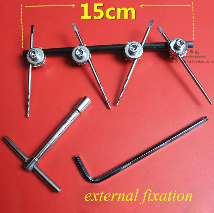 Instrumento de ortopedia médica, fijación externa de acero inoxidable para uso de la EFP con un tornillo autorroscante de fácil uso.