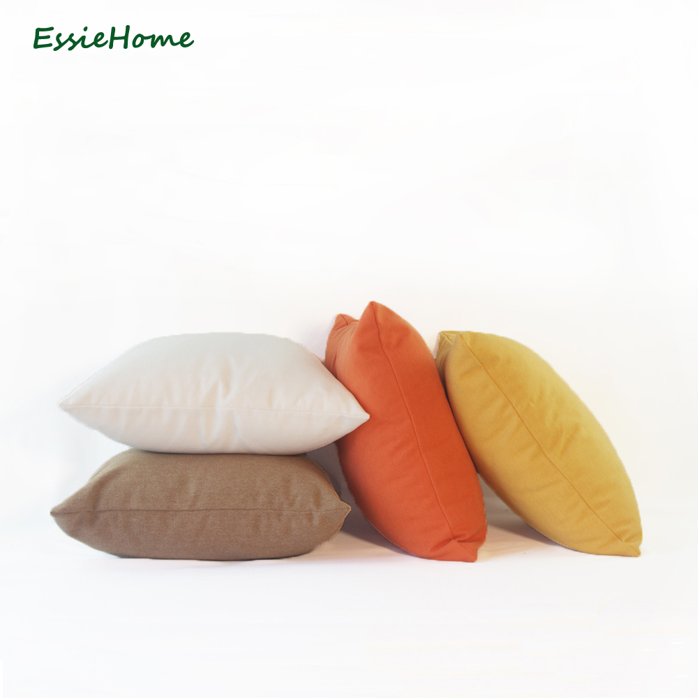 ESSIE HOME 13 Colors Available Stone Washed Cotton Polyester Canvas Pillow Case Cushion Cover for Sofa Chair in Cushion Cover from Home Garden