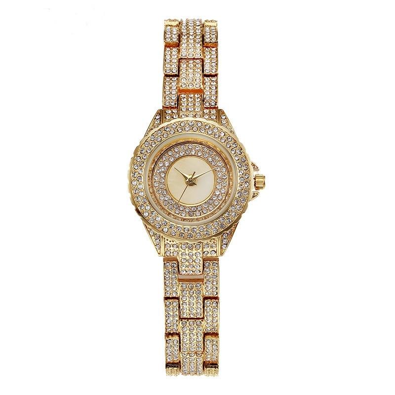 New High Quality Luxury Austria Crystal Watches Women Gold Watch Fashion Full Diamond Bracelet Dress Wristwatch matisse lady austria full crystal dial