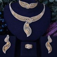 GODKI Brilliant Simple Lariat Flower Women Wedding Cubic Zirconia Choker Necklace Earring Dubai Jewelry Set Jewellery Addict