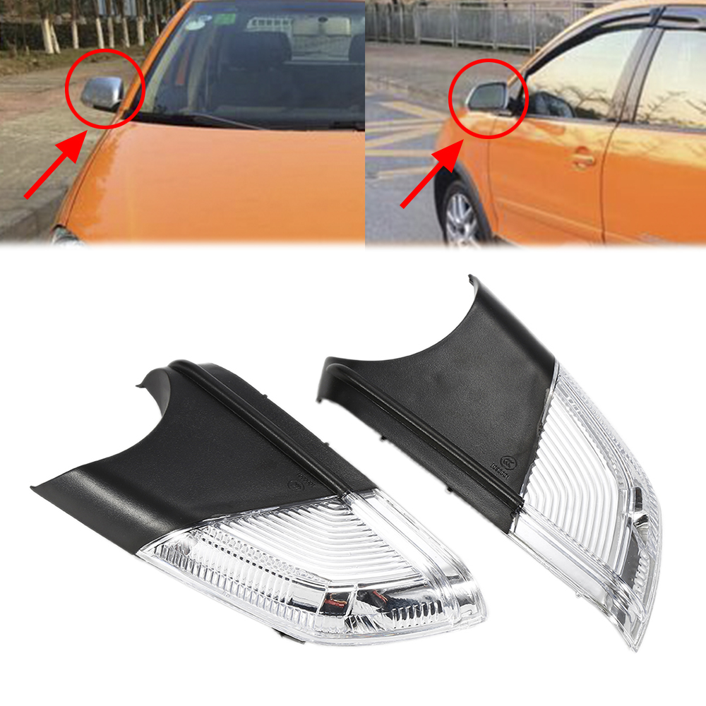 Liplasting Brand 2Pcs Left&Right Rearview Mirror Turn Signal Lights for 2005-2009 VW Polo MK4 FL 2017 NEW new 2pcs left