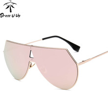 DRESSUUP Newest Shield Sunglasses Women Brand Designer Big F