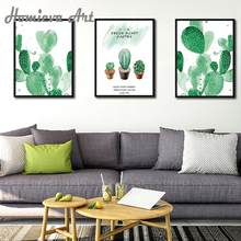 3PCS set of Leaves Wall Art Canvas Prints Tropical Cactus Plant Nordic Posters Decorative Picture Home Decor Bathroom(China)