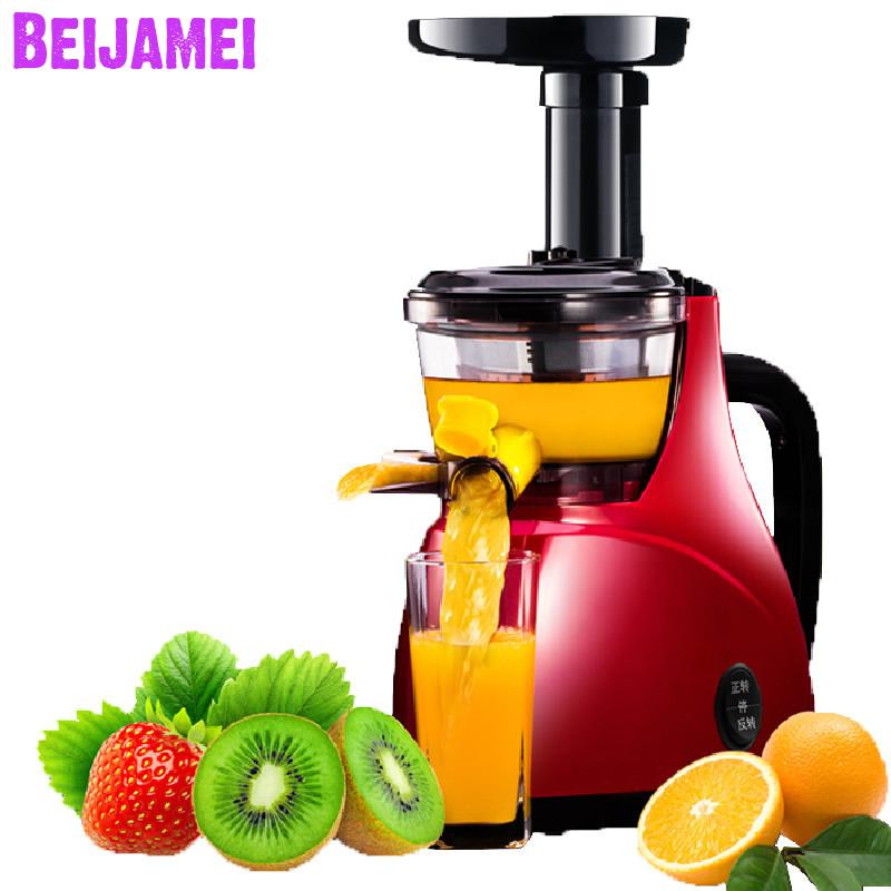 BEIJAMEI Low speed full automatic fruit and vegetable juice blender machine home fruit juice extractor for sale