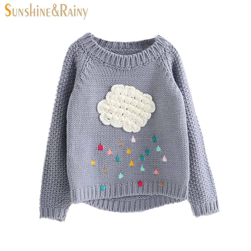 Spring Autumn Children\u0027s Girl Clouds Sweater Kids Knitwear Sweaters For Boys  Baby Cotton Sweater Fashion Design