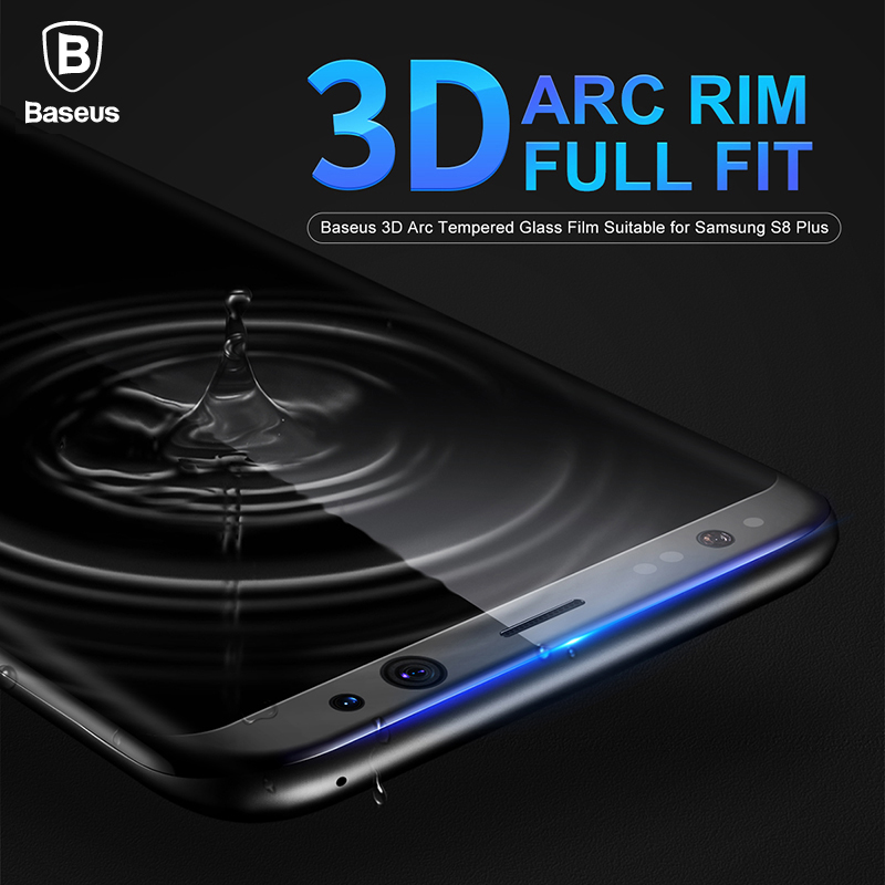 Baseus Tempered Glass For Samsung Galaxy S8 / S8 Plus Premium 3D Arc Screen Protectors For Galaxy S8 Full Protective Glass Film