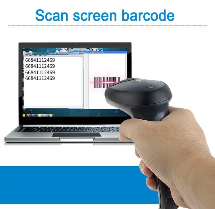 barras 2.4G 2D Barcode Scanner A Laser