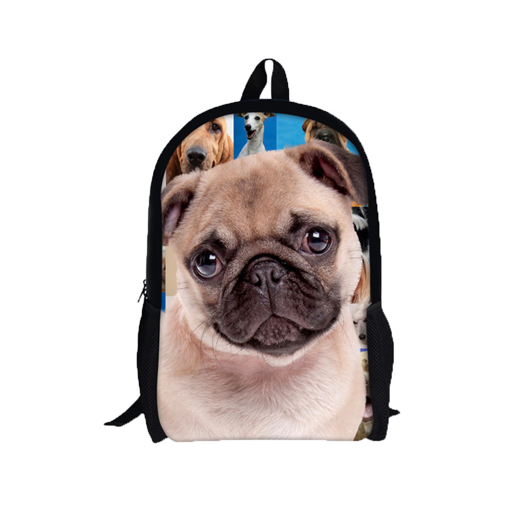 2018 New Design Creative 3D Animal Print Shar Pei Dog Backpack Rucksack  School College Shoulder Bags Cool Pet Dog Children Bag-in School Bags from  Luggage ...