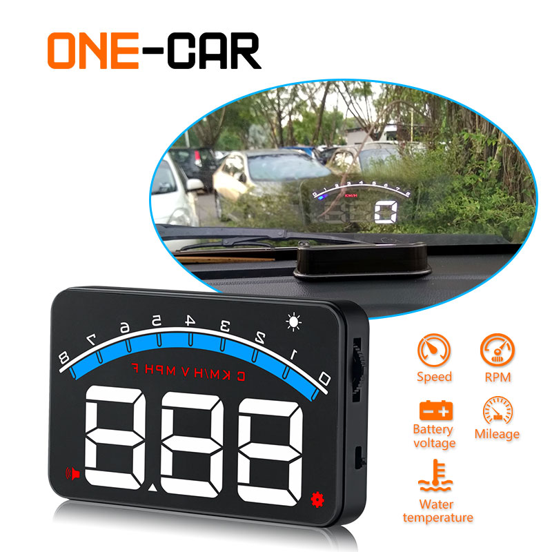 Car Head Up Display OBD2 3.5 Inch Projector Glass Vehicle Auto DigitalCar Driving Data Display Speed RPM Water Temperature HUD